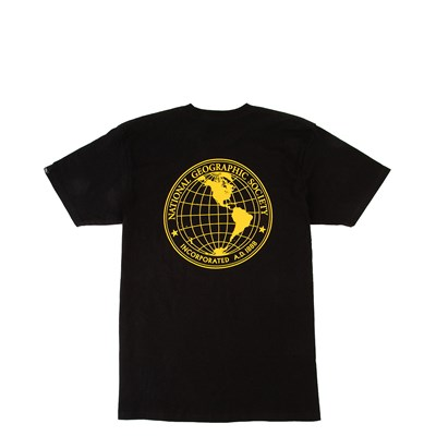 Main view of Mens Vans x National Geographic Globe Tee - Black