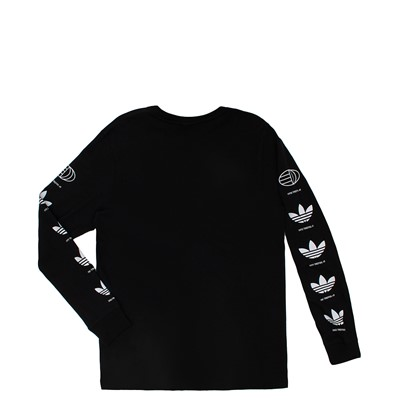 Alternate view of Mens adidas Trefoil History 2.0 Long Sleeve Tee - Black