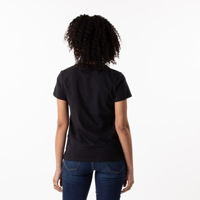 Alternate view of Womens Levi's Logo Tee - Black / Red