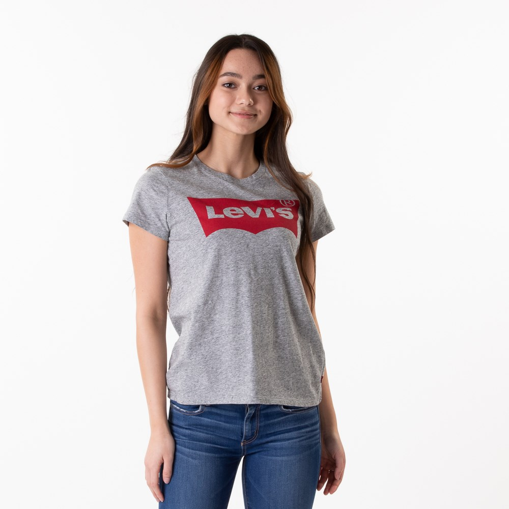 Womens Levi's Logo Tee - Heather Grey
