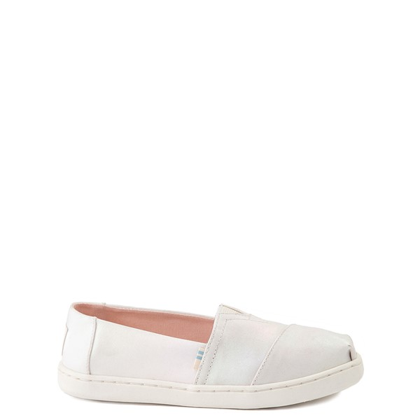 TOMS Classic Slip On Casual Shoe - Little Kid - Iridescent White