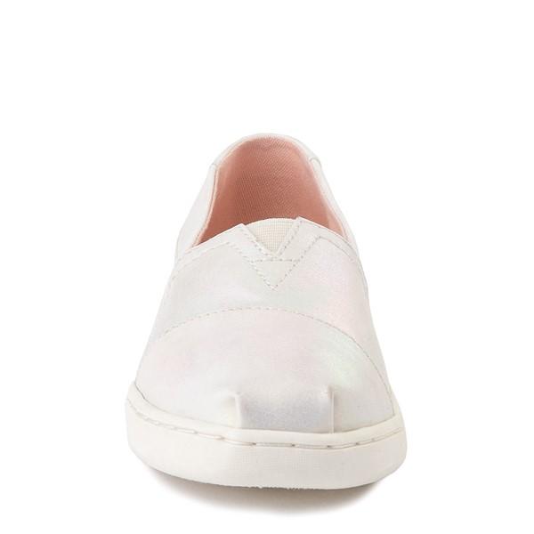 alternate image alternate view TOMS Classic Slip On Casual Shoe - Little Kid - Iridescent WhiteALT4