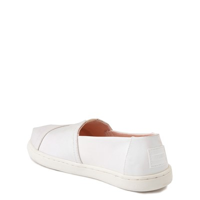 Alternate view of TOMS Classic Slip On Casual Shoe - Little Kid - Iridescent White