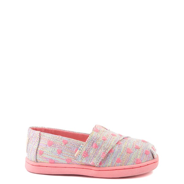 Main view of TOMS Classic Heartsy Glimmer Slip On Casual Shoe - Baby / Toddler / Little Kid - Pink / Multicolor
