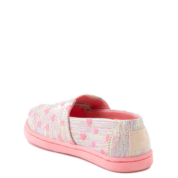 alternate image alternate view TOMS Classic Heartsy Glimmer Slip On Casual Shoe - Baby / Toddler / Little Kid - Pink / MultiALT1