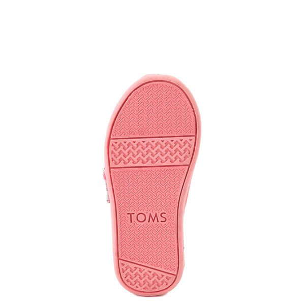 alternate image alternate view TOMS Classic Heartsy Glimmer Slip On Casual Shoe - Baby / Toddler / Little Kid - Pink / MultiALT3