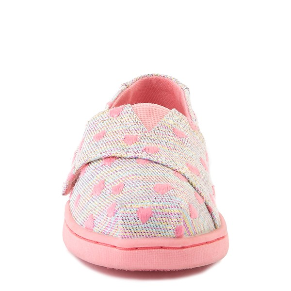 alternate image alternate view TOMS Classic Heartsy Glimmer Slip On Casual Shoe - Baby / Toddler / Little Kid - Pink / MultiALT4