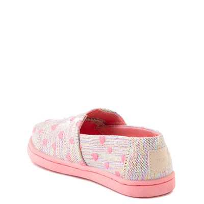 Alternate view of TOMS Classic Heartsy Glimmer Slip On Casual Shoe - Baby / Toddler / Little Kid - Pink / Multi