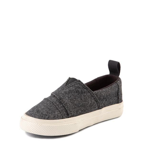 alternate image alternate view TOMS Aliso Slip On Casual Shoe - Baby / Toddler / Little Kid - BlackALT2