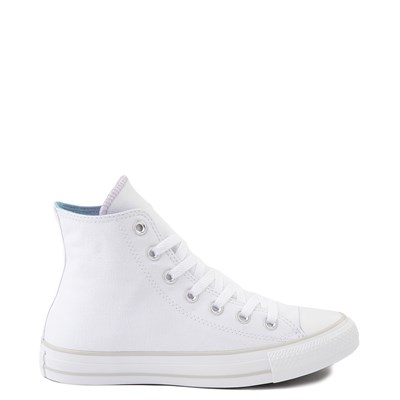 Main view of Womens Converse Chuck Taylor All Star Hi Sneaker - White / Iridescent