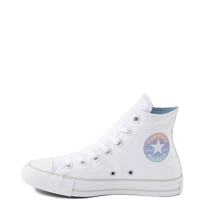 Alternate view of Womens Converse Chuck Taylor All Star Hi Sneaker - White / Iridescent