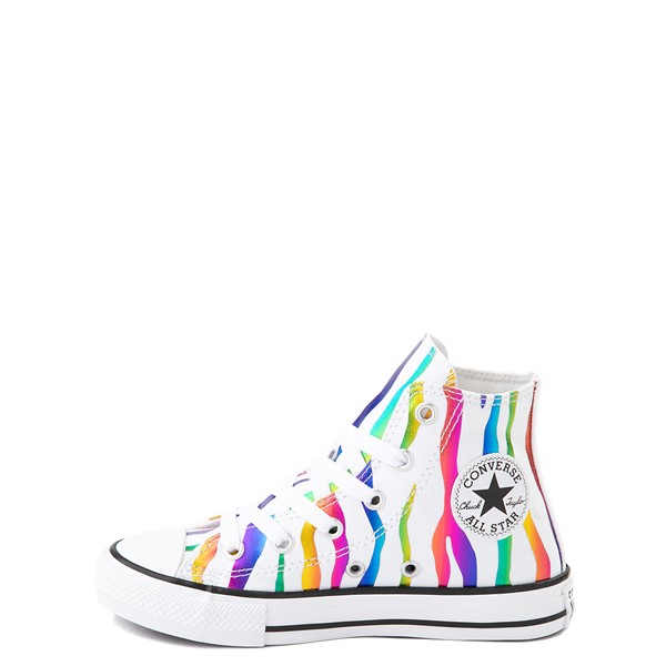 alternate image alternate view Converse Chuck Taylor All Star Hi Zebra Sneaker - Little Kid - White / RainbowALT1