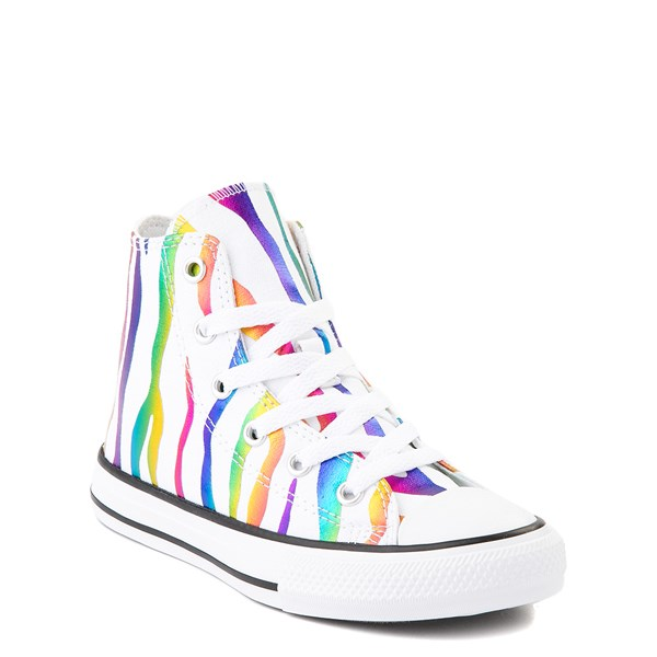 alternate image alternate view Converse Chuck Taylor All Star Hi Zebra Sneaker - Little Kid - White / RainbowALT1B