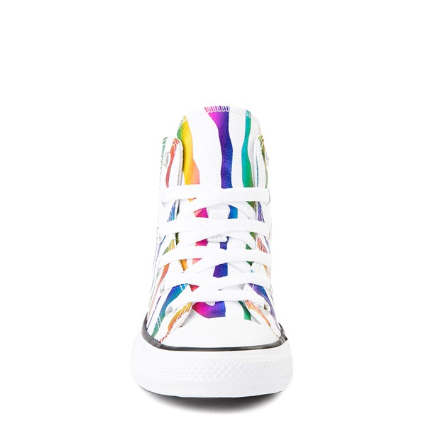 alternate image alternate view Converse Chuck Taylor All Star Hi Zebra Sneaker - Little Kid - White / RainbowALT4