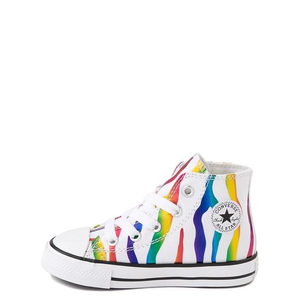 alternate image alternate view Converse Chuck Taylor All Star Hi Zebra Sneaker - Baby / Toddler - White / RainbowALT1