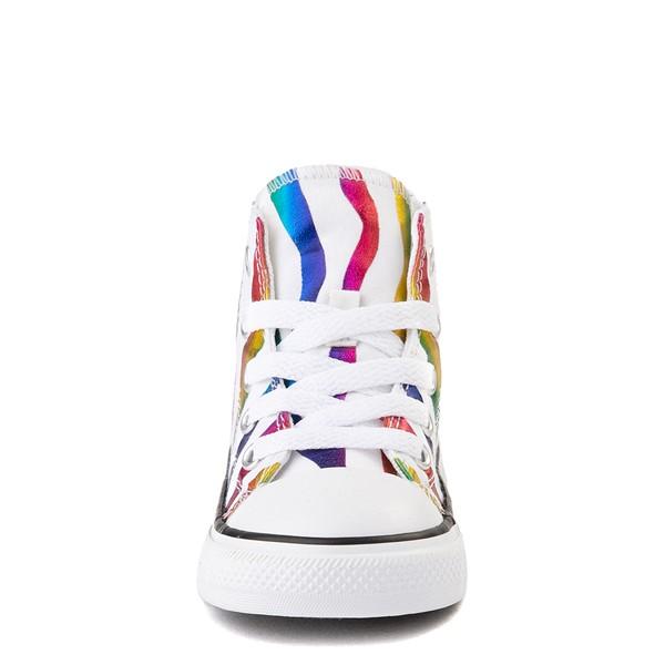 alternate image alternate view Converse Chuck Taylor All Star Hi Zebra Sneaker - Baby / Toddler - White / RainbowALT4