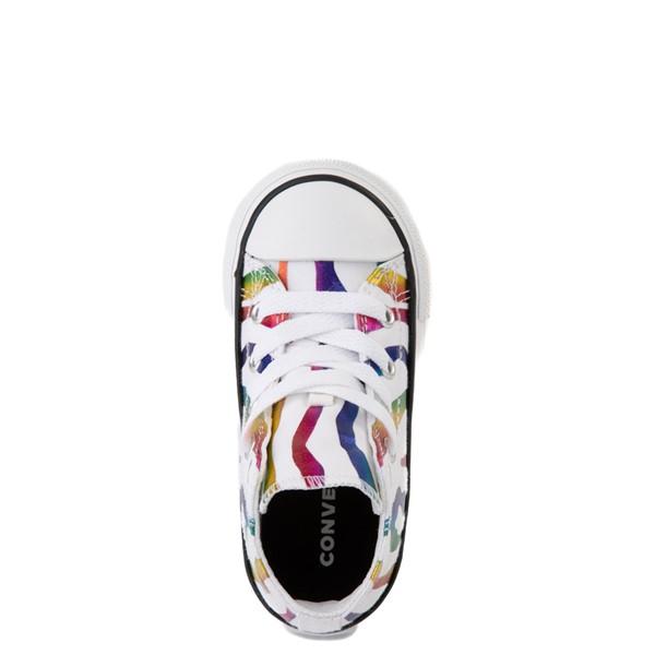 alternate image alternate view Converse Chuck Taylor All Star Hi Zebra Sneaker - Baby / Toddler - White / RainbowALT4B