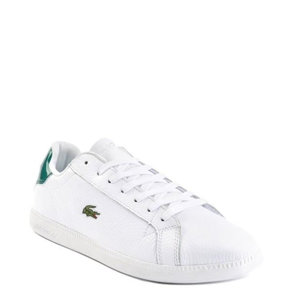 alternate image alternate view Mens Lacoste Graduate Athletic Shoe - White / GreenALT1