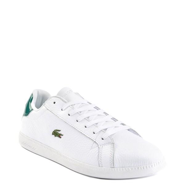 alternate image alternate view Mens Lacoste Graduate Athletic Shoe - White / GreenALT1