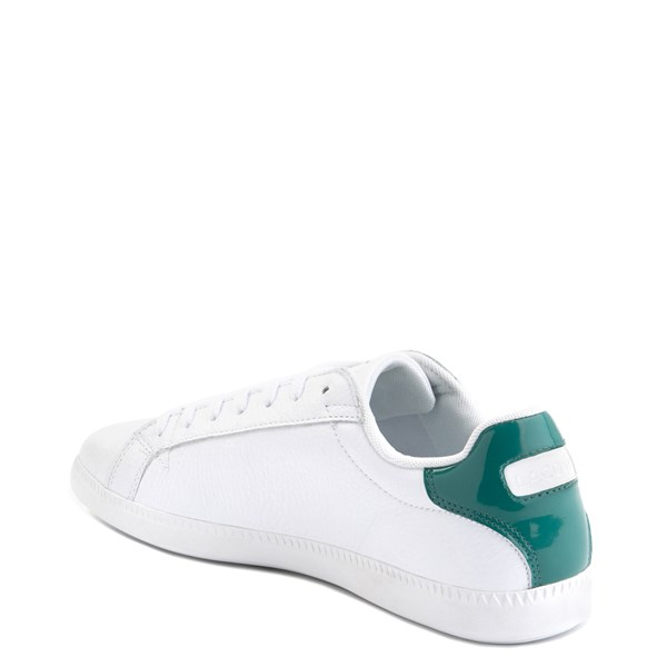 alternate image alternate view Mens Lacoste Graduate Athletic Shoe - White / GreenALT2