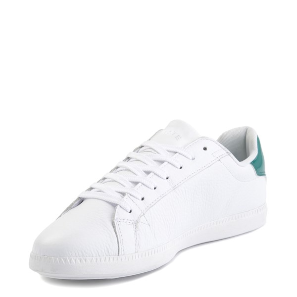 alternate image alternate view Mens Lacoste Graduate Athletic Shoe - White / GreenALT3