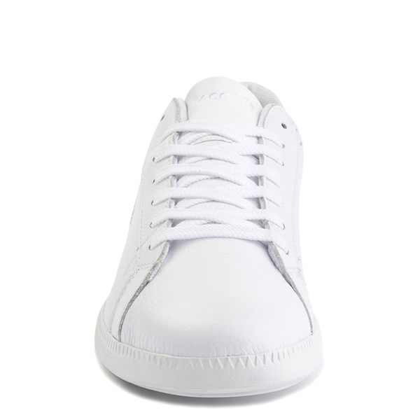 alternate image alternate view Mens Lacoste Graduate Athletic Shoe - White / GreenALT4