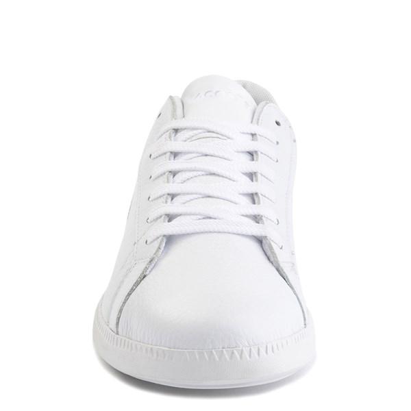 alternate image alternate view Mens Lacoste Graduate Athletic Shoe - White / GreenALT4