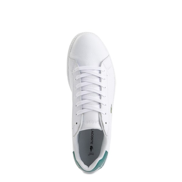 alternate image alternate view Mens Lacoste Graduate Athletic Shoe - White / GreenALT4B