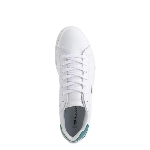 alternate image alternate view Mens Lacoste Graduate Athletic Shoe - White / GreenALT4B