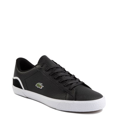 Alternate view of Mens Lacoste Lerond Athletic Shoe - Black / White