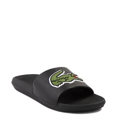 Alternate view of Mens Lacoste Croco Slide Sandal - Black