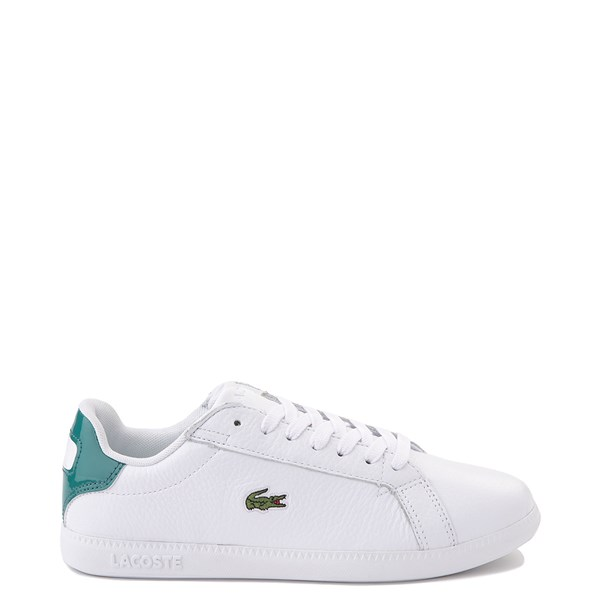 Main view of Women Lacoste Graduate Athletic Shoe - White / Green