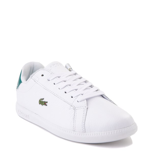 alternate image alternate view Women Lacoste Graduate Athletic Shoe - White / GreenALT1