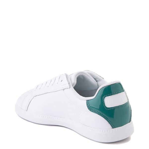 alternate image alternate view Women Lacoste Graduate Athletic Shoe - White / GreenALT2