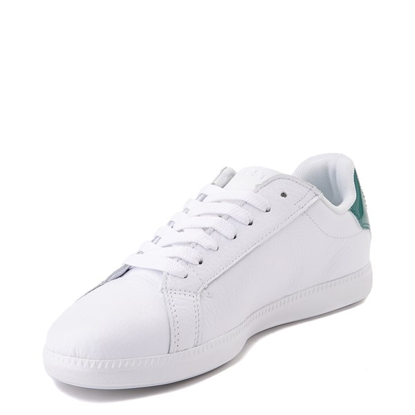 alternate image alternate view Women Lacoste Graduate Athletic Shoe - White / GreenALT3