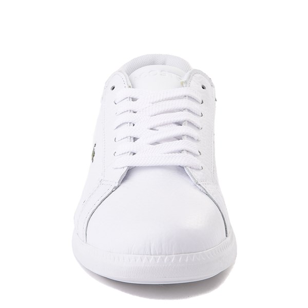 alternate image alternate view Women Lacoste Graduate Athletic Shoe - White / GreenALT4