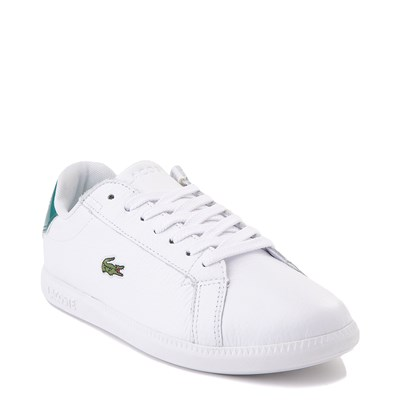Alternate view of Women Lacoste Graduate Athletic Shoe - White / Green
