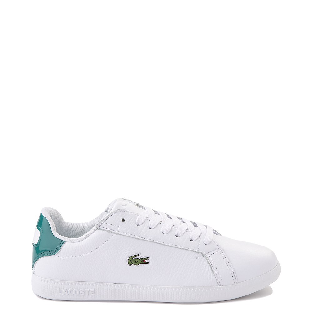 Women Lacoste Graduate Athletic Shoe - White / Green