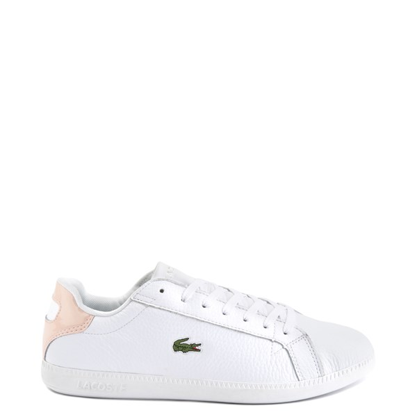 Main view of Womens Lacoste Graduate Athletic Shoe - White / Natural