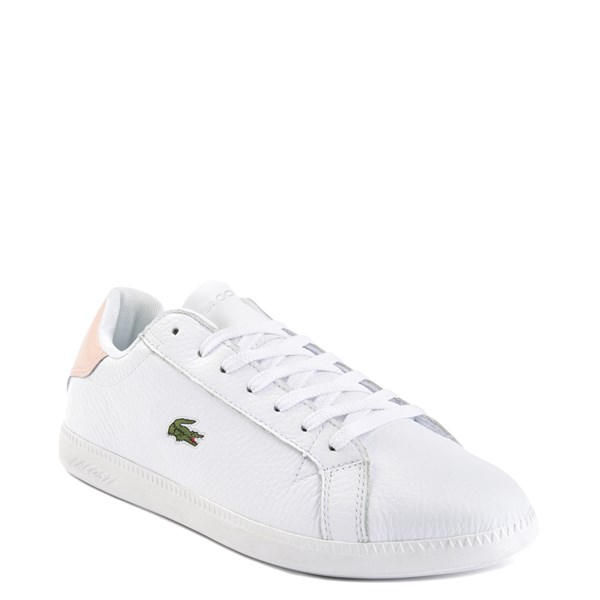alternate image alternate view Womens Lacoste Graduate Athletic Shoe - White/NaturalALT1