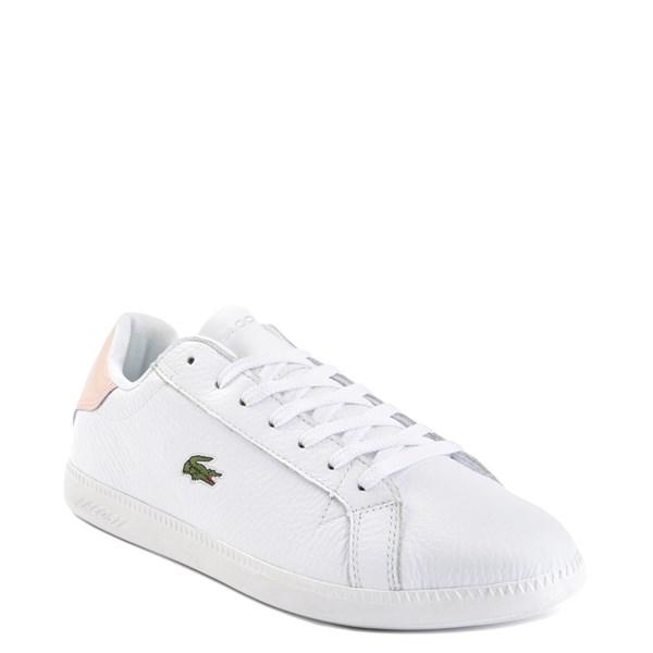 alternate image alternate view Womens Lacoste Graduate Athletic Shoe - White / NaturalALT1
