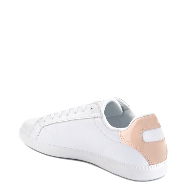 alternate image alternate view Womens Lacoste Graduate Athletic Shoe - White/NaturalALT2