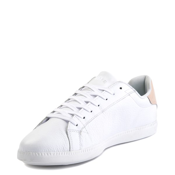 alternate image alternate view Womens Lacoste Graduate Athletic Shoe - White/NaturalALT3