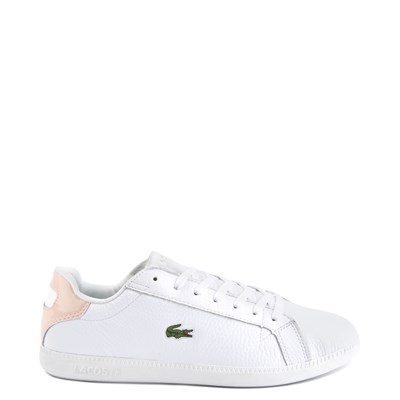 Main view of Womens Lacoste Graduate Athletic Shoe - White/Natural