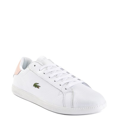 Alternate view of Womens Lacoste Graduate Athletic Shoe - White / Natural