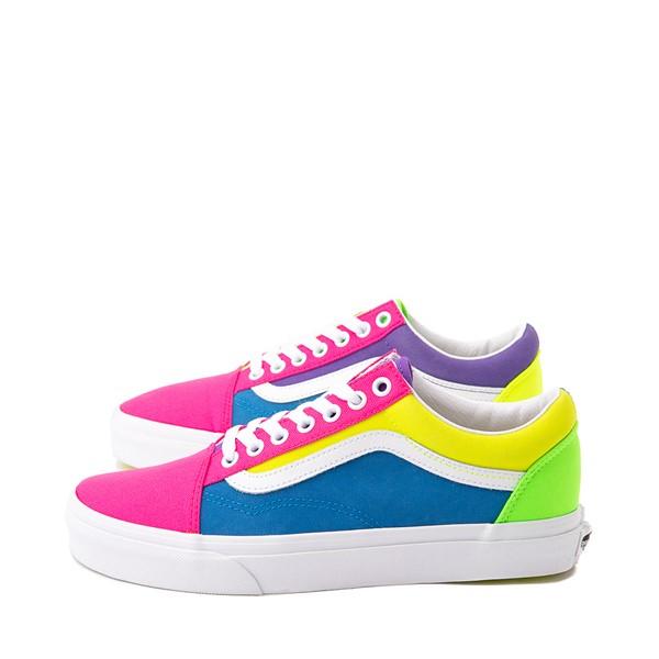 alternate image alternate view Vans Old Skool Neon Color-Block Skate Shoe - Pink / Purple / YellowALT1