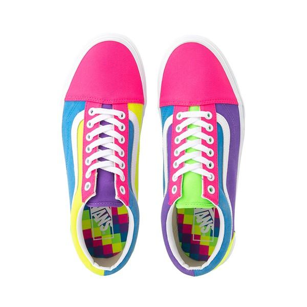 alternate image alternate view Vans Old Skool Neon Color-Block Skate Shoe - Pink / Purple / YellowALT2