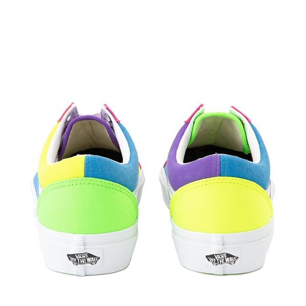 alternate image alternate view Vans Old Skool Neon Color-Block Skate Shoe - Pink / Purple / YellowALT4