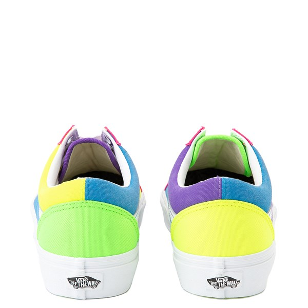 alternate image alternate view Vans Old Skool Neon Color-Block Skate Shoe - Pink / Purple / YellowALT6