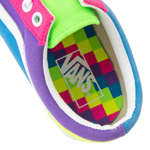 alternate image alternate view Vans Old Skool Neon Color-Block Skate Shoe - Pink / Purple / YellowALT8